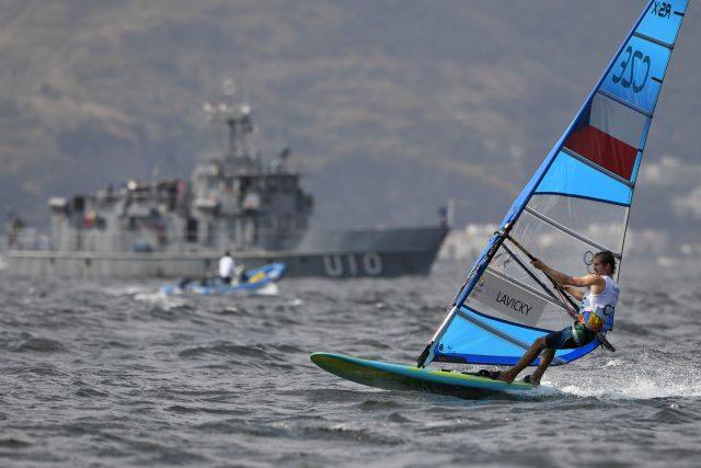 Windsurfer Karel Lavický na olympijských hrách v Riu