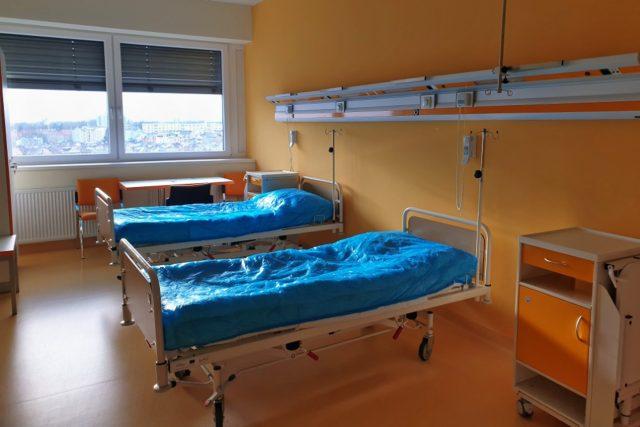 Prázdný pokoj na covidové jednotce nemocnice v Chebu,  | foto: Andrea Strohmaierová,  Český rozhlas,  Český rozhlas