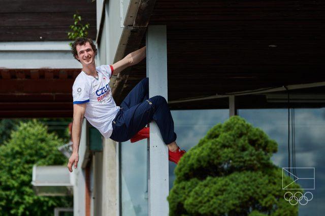 Adam Ondra před odletem do Tokia sršel energií