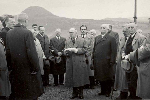 Prezident Beneš během návštěvy v německy mluvícím pohraničí na Rané v roce 1935