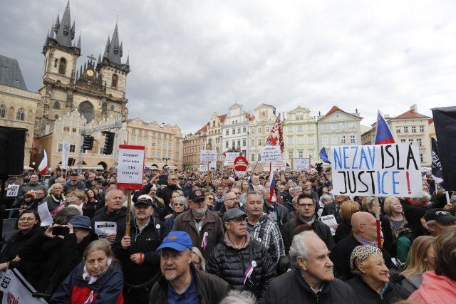 Demonstrace na nezávislou justici