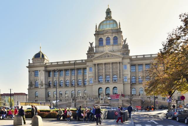 Historická budova Národního muzea po rekonstrukci