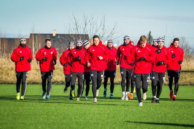Fotbalisté,  Dynamo České Budějovice,  trénink   foto: Petr Lundák,  MAFRA / Profimedia