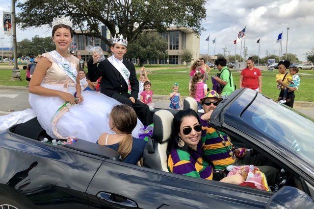 Jízda krále a královny karnevalu v New Orleans