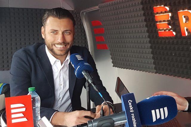 Bývalý hokejový brankář Ondřej Pavelec během rozhovoru pro Radiožurnál