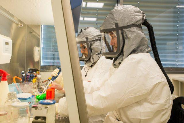 Mikrobiologická laboratoř s vysokým stupněm zabezpečení Biologického centra Akademie věd v Českých Budějovicích