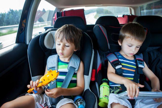 Děti v autosedačkách