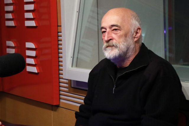 Radim Zapletal ve studiu Radiožurnálu   foto: Kristýna Hladíková,  Český rozhlas