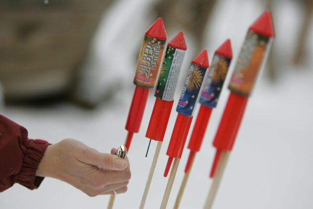 Ohňostrojové rakety (ilustrační foto)