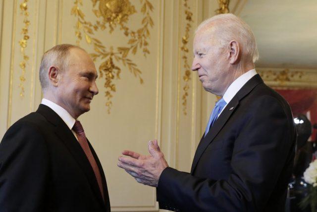 Vladimir Putin a Joe Biden v Ženevě   foto: Fotobanka Profimedia