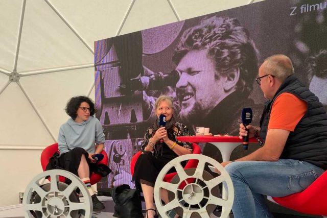 Antonie Formanová a Helena Třeštíková s Janem Pokorným | foto: Barbora Turazová,  Český rozhlas