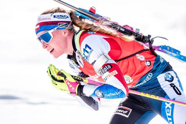 Biatlonistka Markéta Davidová | foto: Petr Slavík,  Český biatlon