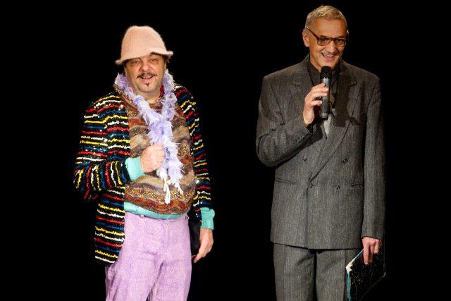 Milan Šteindler a David Vávra během představení divadla Sklep  (2011) | foto: Michal Sváček,  MAFRA / Profimedia