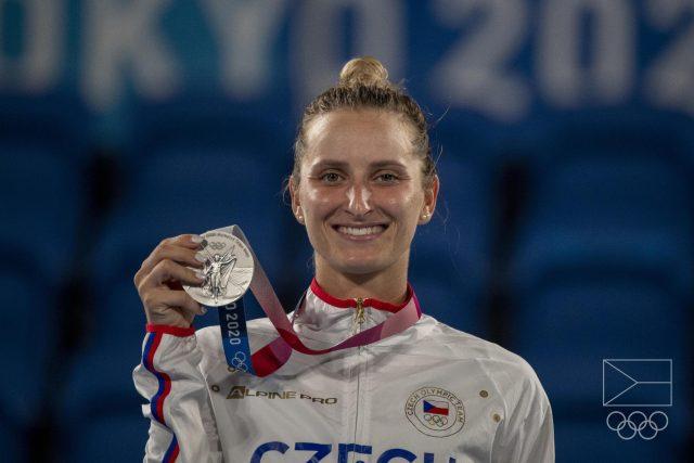 Markéta Vondroušová skončila na hrách v Tokiu na druhém místě   foto: Václav Pancer,  Český olympijský výbor
