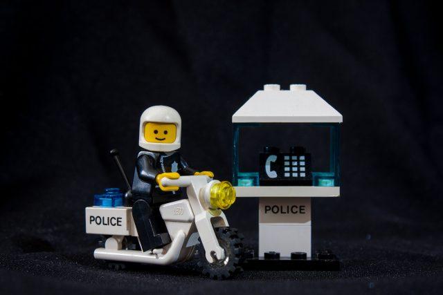 Lego Model #6522 Dálniční hlídka (Highway Patrol) z roku 1987