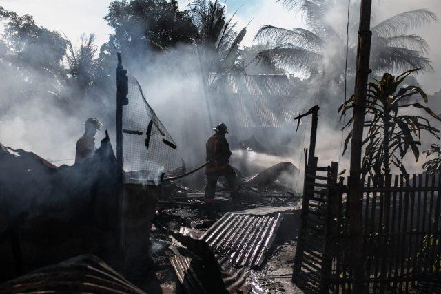 Požár - horko - katastrofa