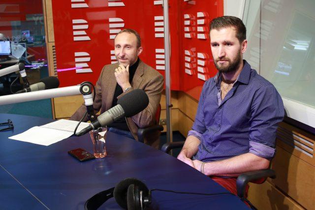 Jan Špička a Martin Čermák, vědci ze Západočeské univerzity v Plzni, kteří nedávno dali podnět k obnovení vyšetřování smrti Jana Masaryka