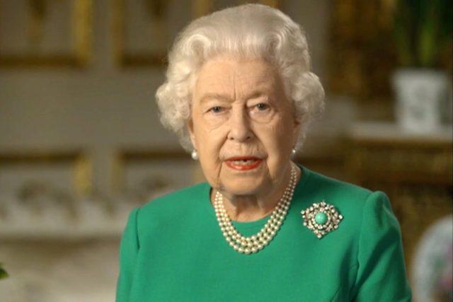 Alžběta II.; The UK's Queen Elizabeth addresses the nation over the coronavirus crisis | foto: Fotobanka Profimedia