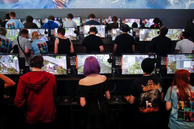 Návštěvníci veletrhu Gamescom