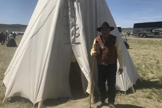 George Gover z kmene Skidi Pawneeů.