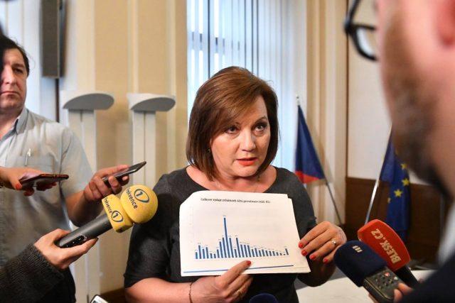 Ministryně financí Alena Schillerová za ANO informovala o loňském rozpočtu