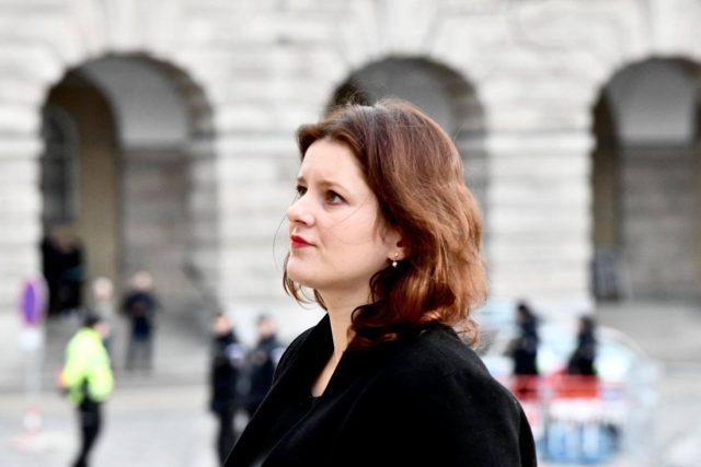 Ministryně práce a sociálních věcí Jana Maláčová na pietním aktu za Jaroslava Kuberu