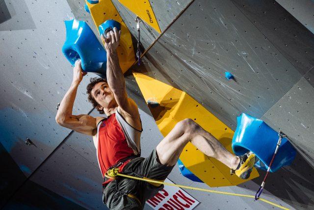 Adam Ondra na MS v lezení na obtížnost