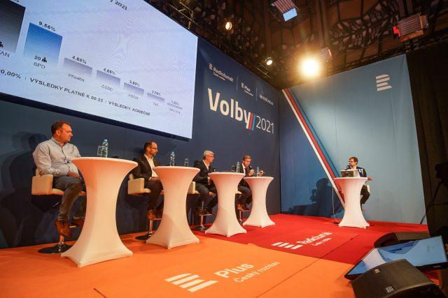 Povolební debata Radiožurnálu Českého rozhlasu Plus   foto: Jiří Šeda,  Český rozhlas