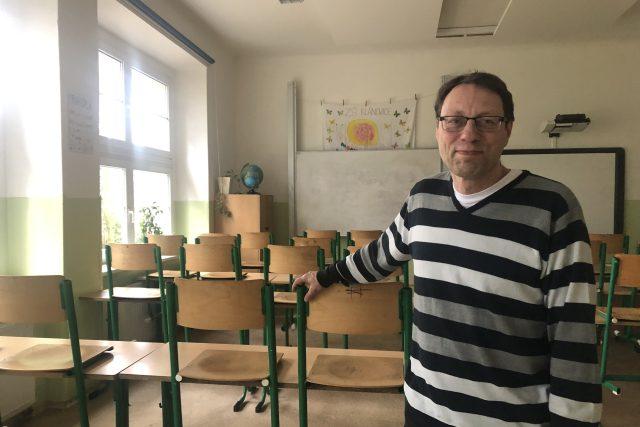Ředitel Masarykovy školy v Praze-Klánovicích Michal Černý