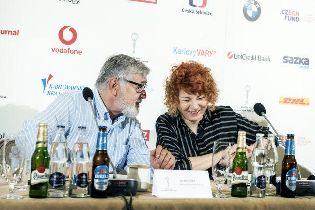 Jiří Bartoška a Uljana Donátová, TK 54. Mezinárodní filmový festival Karlovy Vary