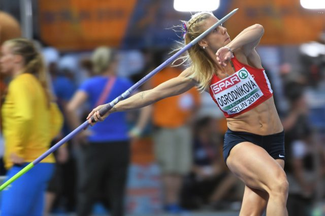 Nikola Ogrodníková vyhrála stříbro hodem dlouhým 61,85 metru
