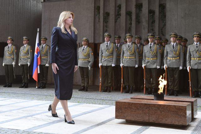 Oslavy 75. výročí Slovenského národního povstání se konaly 29. srpna 2019 v Banské Bystrici. Na snímku je slovenská prezidentka Zuzana Čaputová.
