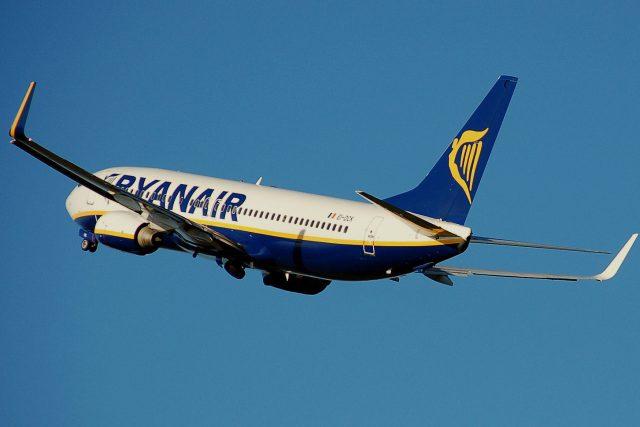Letadlo letecké společnosti Ryanair