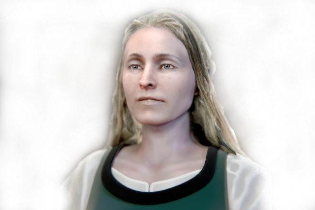Podoba dívky ze 17. století jejíž kostra byla nalezena v Táboře podle 3D rekonstrukce. | foto: Husitské muzeum v Táboře/iROZHLAS.cz