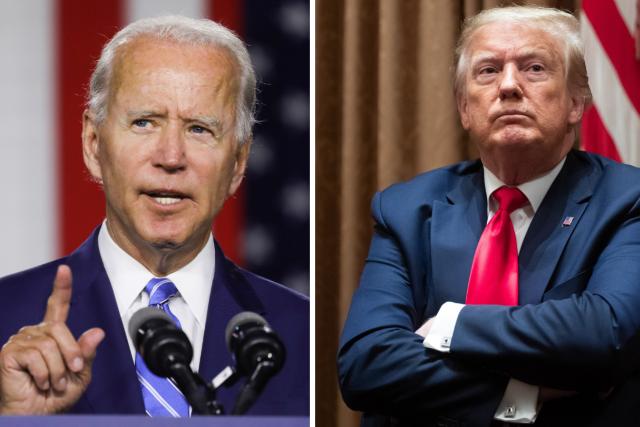 Prezidentští kandidáti Donald Trump a Joe Biden se ve čtvrtek zúčastní poslední předvolební debaty   foto: Koláž iROZHLAS.cz/Profimedia/Reuters