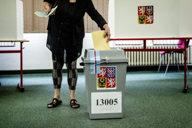 Hlasovací lístek ve volbách do Senátu v obvodu Praha 5.