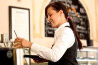 servírka, číšník, restaurace, kavárna, pohostinství