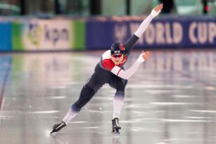 Karolína Erbanová ve finále světového poháru na 500m trati