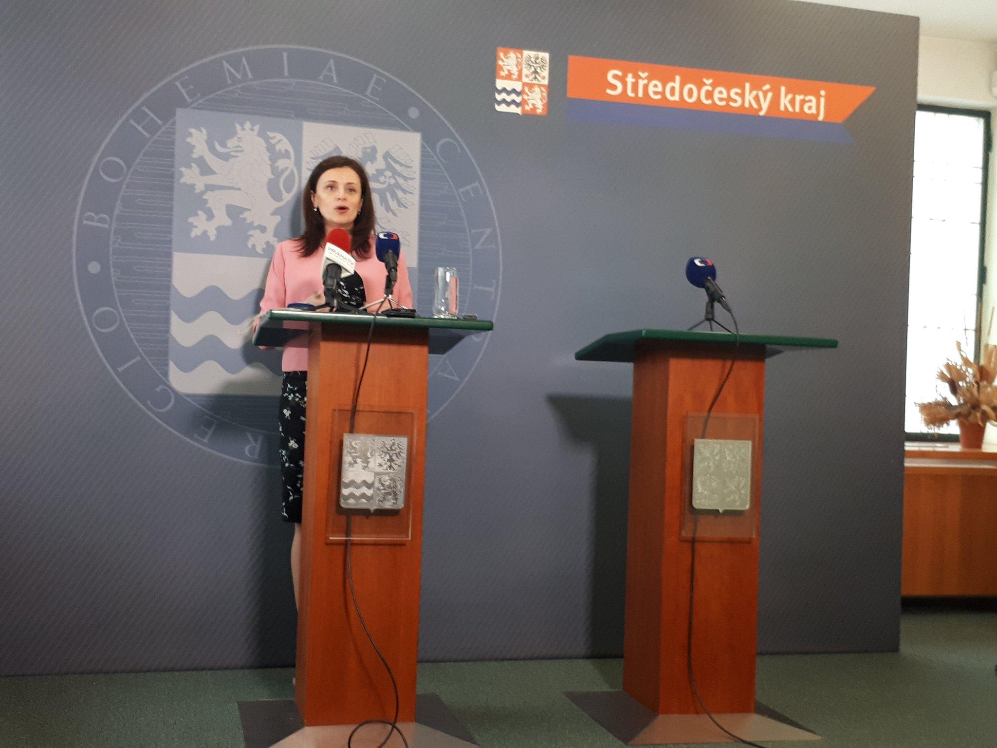Jaroslava Pokorná Jermanová (ANO) během tiskové konference.
