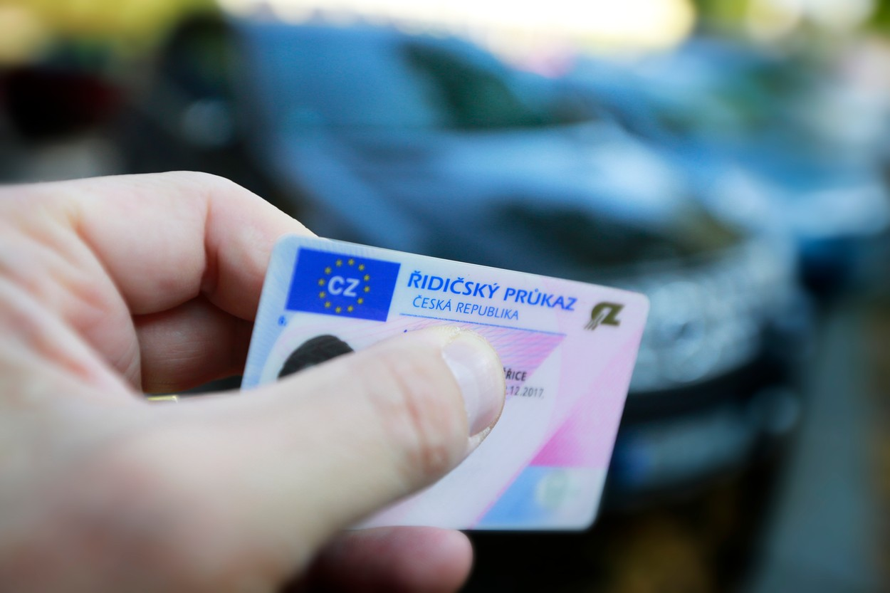 Řidičský průkaz (ilustrační obrázek)